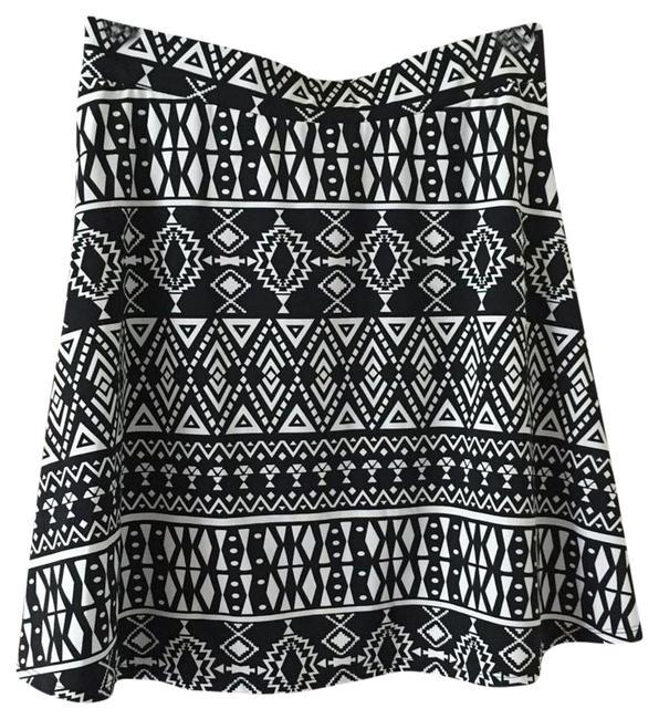 Hype And White Set Crop Top Skirt Black