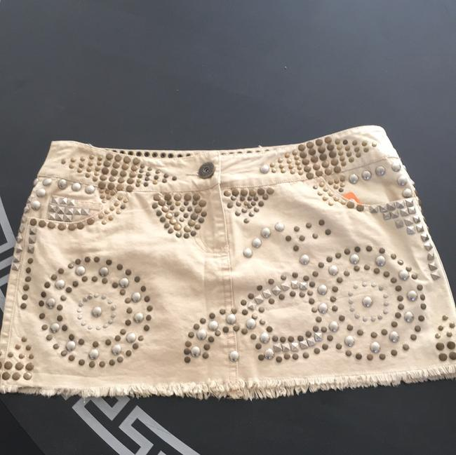 Miss Me Mini Skirt Beige