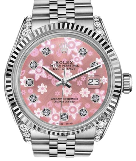 Preload https://item3.tradesy.com/images/rolex-woman-s-26mm-datejust-glossy-pink-flower-dial-diamond-accent-watch-19112857-0-1.jpg?width=440&height=440