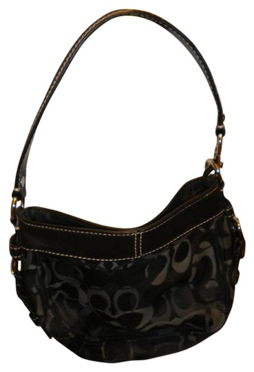 Preload https://item5.tradesy.com/images/coach-looks-like-style-but-smaller-delicate-elegant-black-leather-and-fabric-shoulder-bag-19112959-0-1.jpg?width=440&height=440