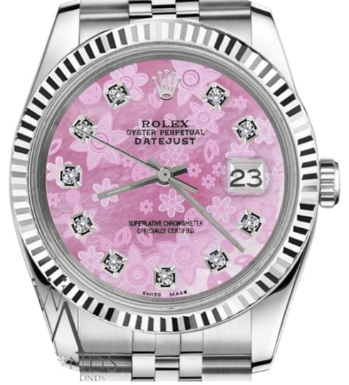 Preload https://img-static.tradesy.com/item/19112974/rolex-women-s-26mm-datejust-pink-flower-mop-dial-diamod-watch-0-1-540-540.jpg