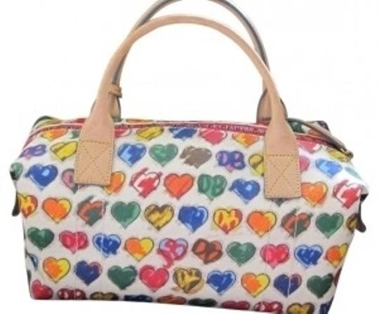 Preload https://item4.tradesy.com/images/dooney-and-bourke-heart-duffel-multicolor-vinyl-shoulder-bag-19113-0-0.jpg?width=440&height=440