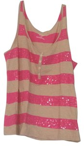 Old Navy Top Tan and pink