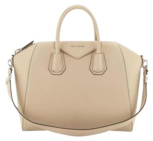 Givenchy Leather Antigona Nude Satchel in Beige