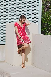 Free People short dress Red on Tradesy