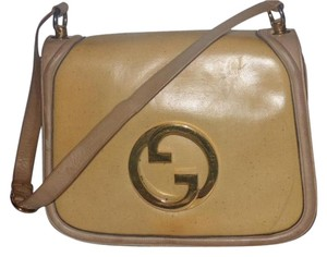 Gucci Equestrian Accents Blondie Accordion Bottom Excellent Vintage Rare Body Hobo Bag