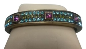Heidi Daus Heidi Daus Multi-Color Crystal Hinged Bracelet