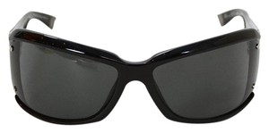 Balenciaga Balenciaga Black and Silvertone Sunglasses with Case