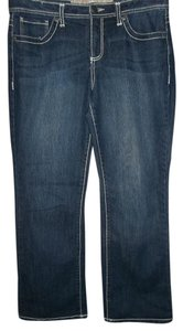 Nine West 5 Pocket Boot Cut Jeans-Dark Rinse