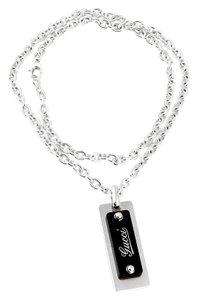 Gucci Gucci Silver Dog Tag Necklace