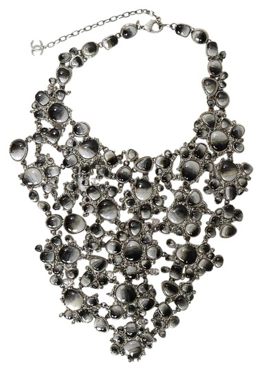 Preload https://img-static.tradesy.com/item/19114987/chanel-ivory-black-and-silvertone-and-grey-glassrhinestone-bib-runway-necklace-0-1-540-540.jpg