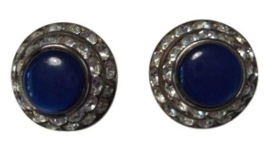 Preload https://item1.tradesy.com/images/lisner-blue-and-silver-vintage-circular-stone-with-rhinestones-earrings-19115-0-0.jpg?width=440&height=440