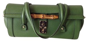 Gucci Bamboo Detail Satchel in Green