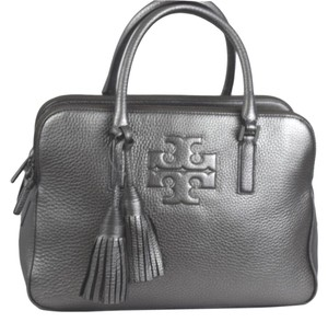 Tory Burch Thea Tory Satchel in Silver
