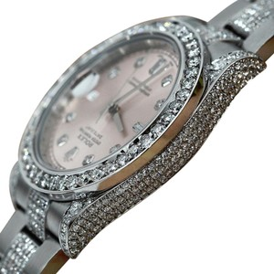 Rolex Watch Datejust II 116334 41mm Pink Dial Diamond Case, Bezel & Bracelet