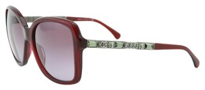 Chanel New CHANEL CH 5308 Sunglasses Burgundy Red Square Bijou Crystals
