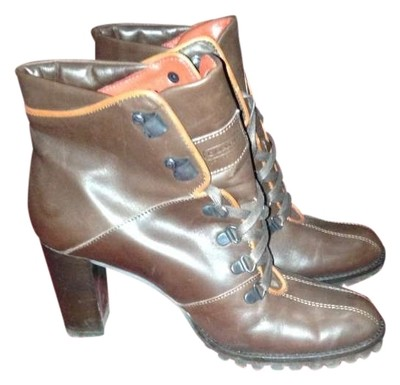 coach brown boots size 6 5 coach boots booties tradesy