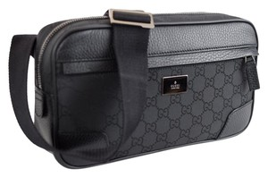 Gucci 336672 Belt Crystal Gg Black Travel Bag