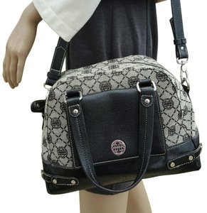 Dana Buchman Satchel in Beige and Black