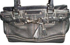 Coach Satchel in Black, silver hardware