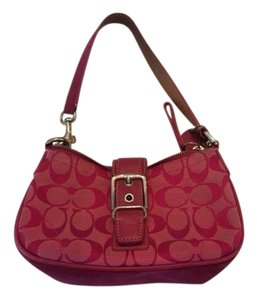 Coach Monogram Canvas Vintage Shoulder Bag