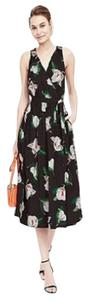 Black Floral Maxi Dress by Banana Republic Midi Wrap V-neck