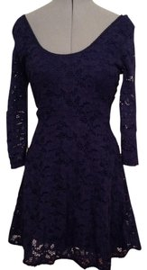 Free People short dress Dark blue with a hint of purple on Tradesy