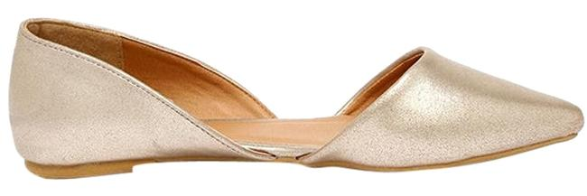 Item - Gold Cute Company Distressed Pointed Flats Size US 9 Regular (M, B)