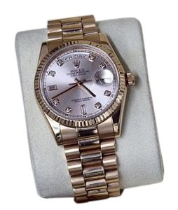 Rolex Presidential 36mm 18K Rose Day-Date 18038 Original Pink Diamond Dial