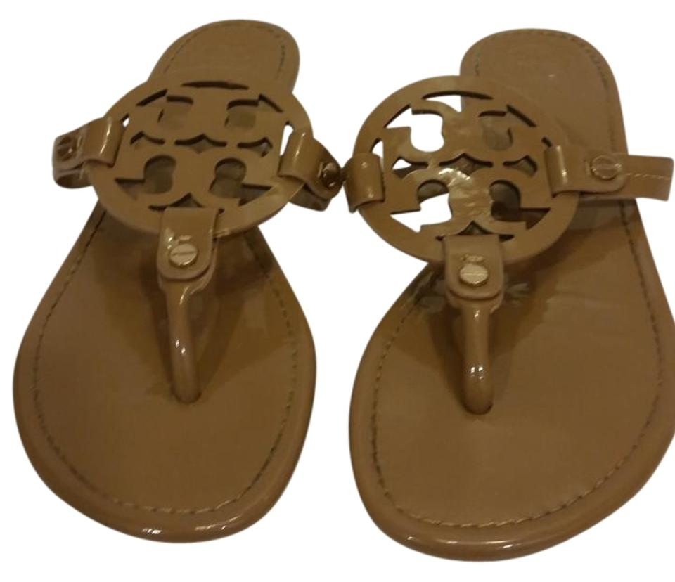 9466df17468c5 ... Miller 2 Snake-Embossed Leather Sandal in Black Lyst great fit b8b65  32fb9  Tory Burch Nude Sandals ... best quality faa50 e20a9 ...