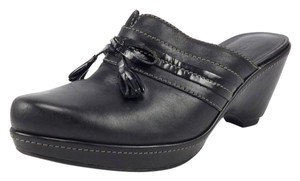 Ecco Leather Women's Black Mules