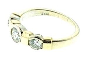 14k 1 carat 3-stone bezel-set diamond band