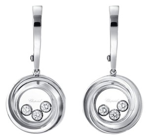 Chopard CHOPARD Happy emotions 18ct white-gold and diamond earrings
