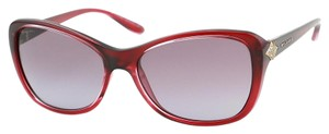 BVLGARI Brand New BVLGARI 8127B Cherry Red Rectangular Sunglasses Retail $650
