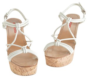 Prada Summer ivory Wedges