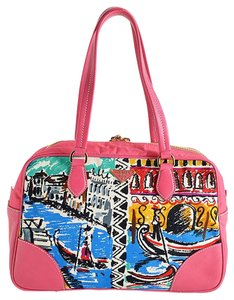 Prada Italy Sheek Tote in pink