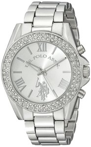 U.S. Polo Assn. U.S. Polo Assn. Women's USC40035 Display Analog Quartz Silver Watch