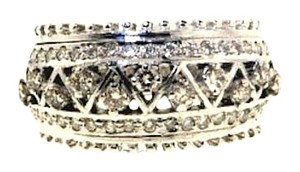 18k 1/2 ct diamond lattice work band