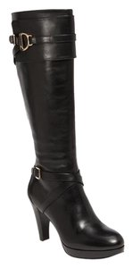 Cole Haan Knee High Tall Leather Black Boots