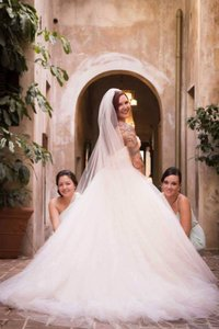 Lazaro Strapless Silk Organza & Tulle Ballgown Wedding Dress