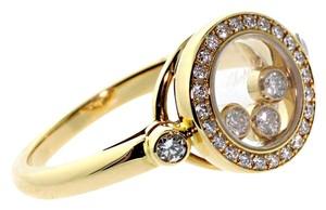 Chopard Chopard Happy Diamonds 18k Yellow Gold Ring Size 6.25