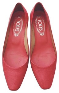 Tod's Coral Red Pumps