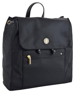 Tory Burch Travel Nylon Leather Trim Backpack