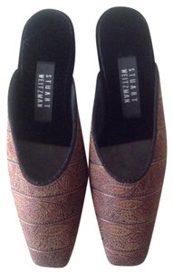 Stuart Weitzman Tapestry Design Leather Lined NWT Tapestry/leather/velvet Mules
