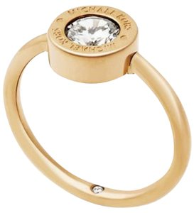 Michael Kors Michael Kors MKJ5343710 Women's Crystal Gold tone Ring NEW! Size 8