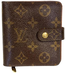 Louis Vuitton Louis Vuitton Signature Monogram Leather Wallet Compact Lock