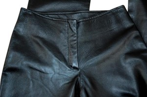 Diletta Lelli Leather Hand Made Skinny Pants Black