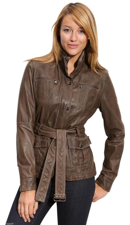 3d6a99c8 Kenneth Cole Dark Taupe Belted Jacket Size Petite 4 (S) - Tradesy