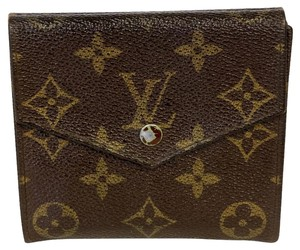 Louis Vuitton Louis Vuitton Signature Monogram LV Double Snap Trifold Wallet