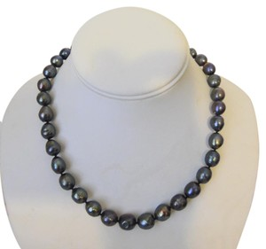 """Pearlfection Pearlfection Faux Black Tahitian Peacock Baroque Pearl Necklace 17"""""""